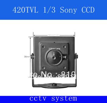 Free shipping Mini Security Camera 420TVL 1/3  Sony CCD Pin Hole Covert (Black)
