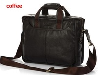 2013 New! Shoulder Bags Genuine Leather Handbag Men Business Bag Men's Atmosphere Briefcase HL10023+Free Shipping