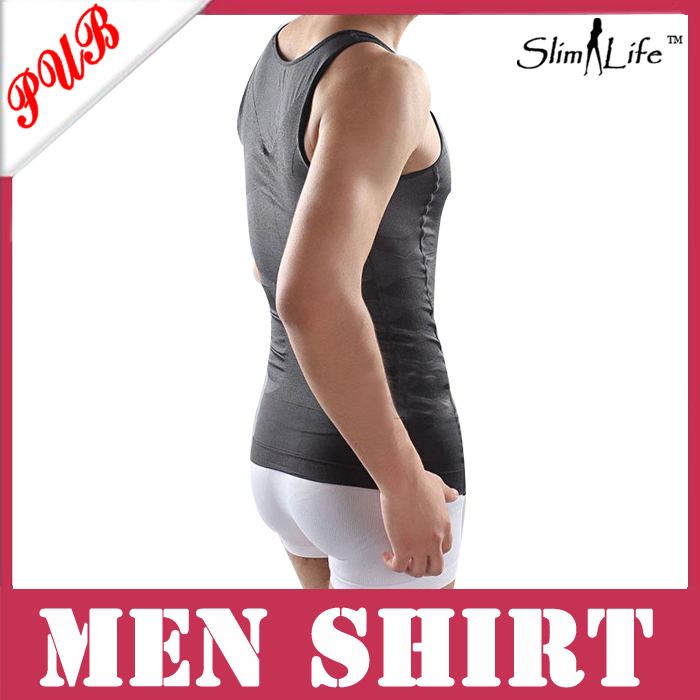 Fashion Mens Elimination Male Beer Belly Bodyshaper Garment Slim N Lift Slimming Shapewear 50pcs(China (Mainland))