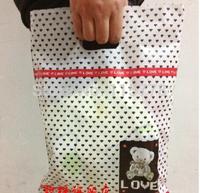 25*35cm Plastic packaging bags/poly bag/ garment plastic handle bag