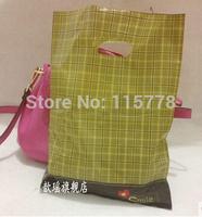 25*35cm  gold plastic shoping bag polyester / plastic shoping bag  / Plastic packaging bags