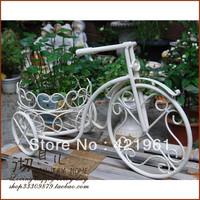 Garden decoration supplies white iron bicycle balcony flower pot windowsillxia flower
