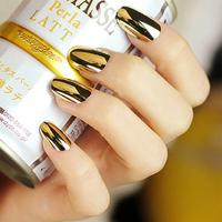 72 pieces/lots silver gold false nails women artificial acrylic metal nail tips fake nails fashion design nail beauty