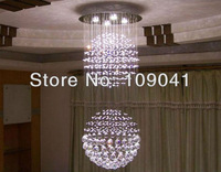 Free shipping + 2013 the newest Double ball  LED  crystal pendant lamp  5bulbs also for wholesale