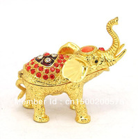 2013 new elephant style metal jewelry box for retailing free shipping(C-2591-2)
