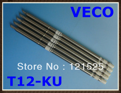 Free shipping VECO welding iron tip solders 5pcs/lot T12-KU Soldering Tips for hakko soldering station(China (Mainland))