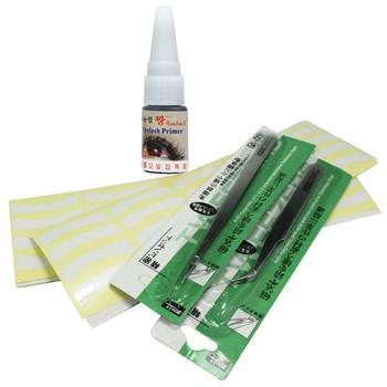 Eyelash Extension Smell-less Glue 200 Pairs Extension Tape Remover Tweezer Kit Set Salon Tool,