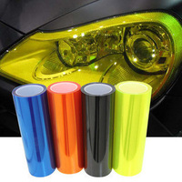 "Free shipping 12"" x 48"" Auto Car Sticker Smoke Fog Light HeadLight Taillight Sticker Tint Vinyl Film Sheet 2PCS/LOT"