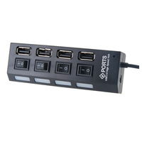 Four Interfaces High Speed  USB 2.0 Hub BH-18A With Switch For PC/Laptop