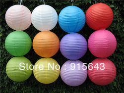 "10Pcs/Lot 8"" Wedding Round Paper Lanterns Home Party Decoration Paper Lamp Free Shipping 9178(China (Mainland))"