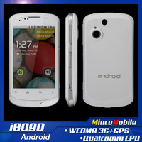 "3.5"" Capacitive Multi-Touch Screen Quad Band Dual SIM Android Phone i8090 GPS / Qualcomm 528Mhz Cpu / 256M RAM / 3G Smart Phone"