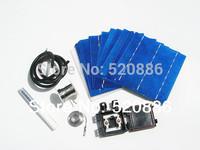 Hot* DIY 160W  solar panel kit 40pcs 6x6 solar cell + tab bus flux pen j-box wire 4W/pc,free shipping
