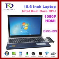 "15.6"" Notebook, Laptop Computer Intel Atom D2500 Dual Core 1.86Ghz, 4GB RAM, 500GB HDD, DVD-RW, WIFI, Webcam, Bluetooth, HDMI"