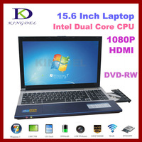 "15.6"" Notebook, Laptop with Intel Atom D2500 Dual Core1.86Ghz, 4GB RAM, 500GB HDD, DVD-RW, WIFI, Webcam, Bluetooth, 1080P HDMI"