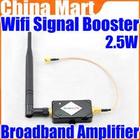 2.4g Wireless 2.5W 34DBm Wifi Broadband Amplifier Signal Booster 802.11 B/G/N Free Shipping + Drop Shipping