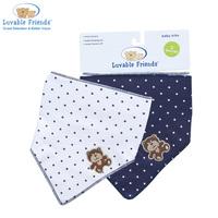 2pcs/lot Free shipping Luvable Friends Trangle Trendy Baby Bib Baby Waterproof Bibs 100% Cotton Bibs & Burp Cloths