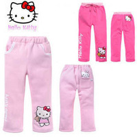 In Stock Best Quality Pretty Price New Arrivals Free Shipping Girl's spring and autumn 100% cotton cartoon HELLO KITTY pants