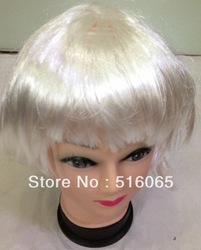 Hot 2013 New White students festival wig Good For School Holiday Free Shipping(China (Mainland))