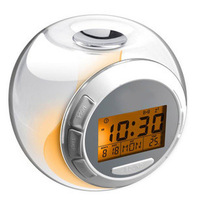 Japanese spherical natural ringtone seven lights/LED electronic clock/luminous clock/alarm clock snooze alarm clock