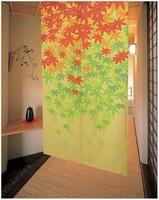 Free Shipping  Maple Leaf Japanese Noren Doorway Curtain JOY-5903