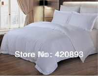 Free Shipping 100% Cotton Fabric 4 pcs Flat Sheet Set Bed linen Duvet Cover Set Hotel Linen