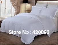 Free Shipping 100% Cotton Fabric 4 pcs Flat Sheet Set Bed linen Duvet Cover Set Hotel Linen