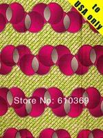 African Fabric Hollandais Technical Real Wax Block Print Hollandais 6 Yards  Cotton a0590