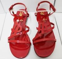 2013 fashion  Candy color auspicious red flat sandals