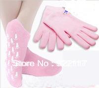 free shipping gel spa gloves+spa socks,2pairs/lot