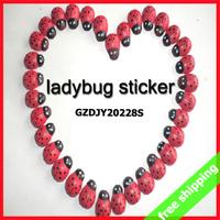 FREE SHIPPING wooden ladybug sticker Photo props self-adhesive Children DIY toy novel Gift Kid funny 1000pcs say hi GZDJY 20228S