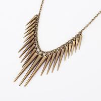 2014 fashion vintage personality women punk rivet necklace