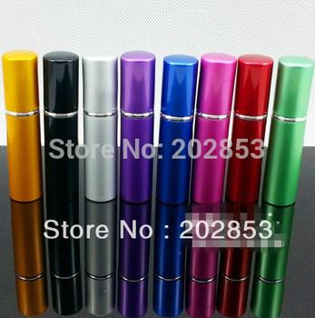 Free Shipping, Wholsale perfume bottle 5ml Aluminium Anodized Compact Perfume Atomiser fragrance glass scent-bottle