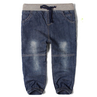 Hot sale! children's denim pants all-match fashion harem pants for boys patchwork dark color jeans Free shipping