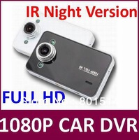 Full HD1080P K6000 Car DVR IR Night Version Video Camera Recoder HDMI motion Detection 20pcs/lot Free Shipping