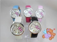 Wholesale 20pcs/lot Fashion Hello Kitty Ladies Women's Girls Quartz Wrist Watches, Xmas Gifts, Free Shipping