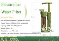 Direct Drinking /outdoor water filter/0.1Micro/ABS+Ceramic+NMC+Carbon/90G Lightest in the world