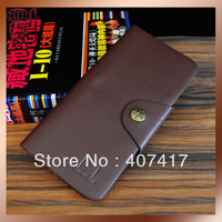 Free Shipping Brand Design Leaher Mens pu Leather Wallet  Male Purse Long Style Money Clip for Men