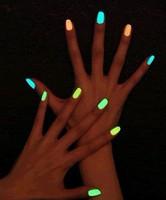 Free Shipping Hot Sale Option  6ml Fluorescent Neon Nail Art Polish Glow in Dark Nail Varnish