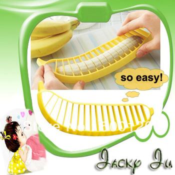 10pcs/Lot Free Shipping New Novelty Banana Cutter Plastic Banana Slicer Banana Peeler Fruit Slicer Household Goods For Kitchen