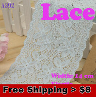 1.29$/meter.sale from 1 meter,exquisite 14cm super width elastic Lace for fabric  warp knitting DIY Garment Accessories #1216