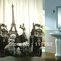 2013 HOT  Eiffel Tower Shower curtain 180X180cm  1pcs