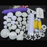 18 sets plunger Cutter Embosser Fondant Flower Cake Decorating Sugarcraft tool Bakeware Moulds