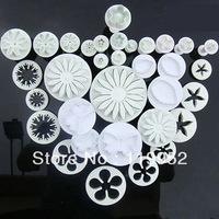 34pcs Cake decorating cutter fondant sugarcraft plunger flower Miniatures tool Cake Tool Drop good quality