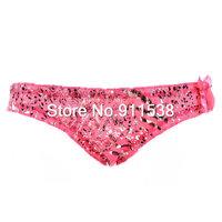Free shipping 1pcs Excellent bronzier unique black pattern cotton panty briefs #B552