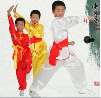 Wholesale Chinese traditional wushu costume martial arts uniform~kung fu suit for kids and adults stage performence clothing