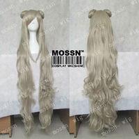 New Code Geass Gaiden Layla Markale Long Wavy Light Gold Grey Party Cosplay Wig
