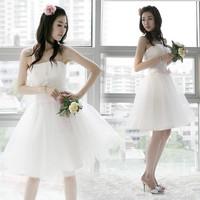 2014 New short design  formal dress one-piece dress bridesmaid