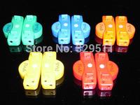 Factory Price Free Shipping 100  Pair/lot  LED Disco Flash light up 2th LED Shoelace Shoestring Flash Glow Stick Shoelace