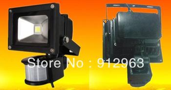 Free shipping Fedex  10W  85-265V waterproof PIR Motion sensor Induction Sense detective Sensor lamp LED Flood Light