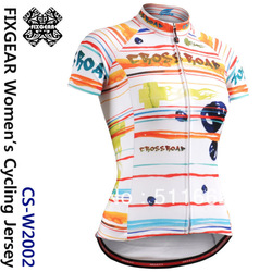 Free shipping 2013 FIXGEAR Women&#39;s Fashion Cycling Jersey Custom Design Road Bike Shirts Bicycle wear W2002 s-2xl(China (Mainland))